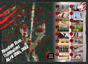 Mud Run Course Map